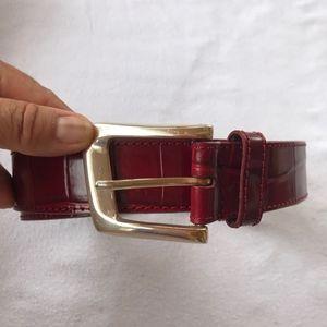 Nine West Red Leather Belt